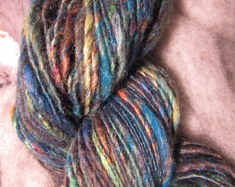Handspun Sparkly singles yarn