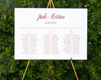 Classic calligraphy seating chart | Printable wedding signage
