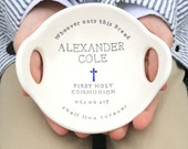 FIRST COMMUNION gift boy |  gift for first communion | boy first communion gift | first holy communion gift from godparents | personalized