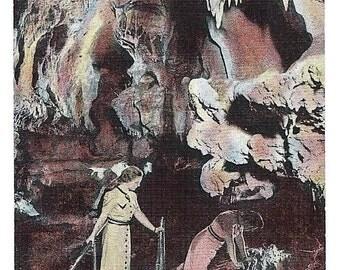 Vintage 1942 Postcard, Oregon Caves in Southern Oregon