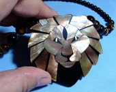 LION Necklace with ABALONE, Onyx and Tiger Eye With or w/o Magnetic clasp