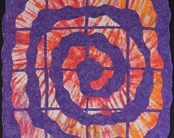 Handmade Art Quilt - Galactic Spiral