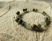 Forgive and Forget, Healing Stones Bracelet, Prehnite and Rhyolite stretchy bracelet, Gemstone Synergy, Forgive and Move On
