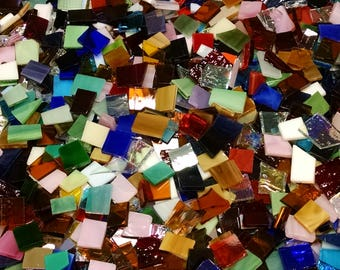 "1 Pound of Stained Glass ""Bits and Pieces"""