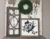Extra Small 10x21 Wood Vintage Inspired Arch Window Frame