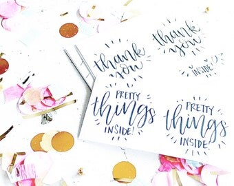 Handwritten Stickers for Happy Mail and Packaging