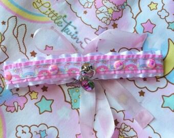 Kawaii Twin Stars DDLG Heart Jewel Collar
