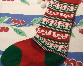 darling knit christmas stocking