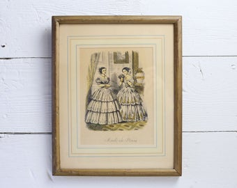 French lithograph french print