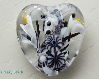 Handmade Lampwork Focal bead 'Cruel Heart!' Creeky Beads SRA
