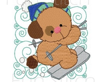 set of 12 winter puppy dogs blocks machine embroidery design