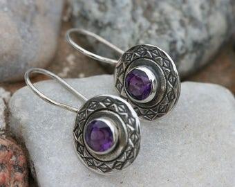 SilverEarrings ,Amethyst  Earrings, Handmade Earrings, 925 Silver Earrings, Birthstone Earrings ,Amethyst  Silver Jewelry, Ready to Ship,