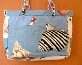 Bea #05  Beach Bag, Ocean Bag, Fish, Purse, Purses,  Handbag, Handbags, Shoulder Bag, Shoulder Bags,