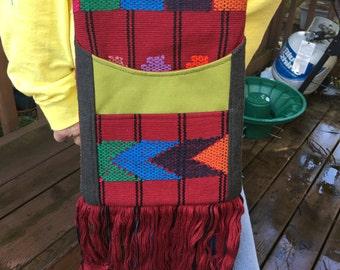 Portland #1740, Up Cycled Fabric Purse, Small Purse, Small Bag, Cross Body Bag, Cross Body Purse, Vintage Fabric Purse, Shoulder Bag, Purses