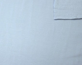 Solid Light Blue 4 Way Stretch French Terry Knit Fabric With Spandex, 1 Yard