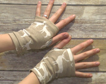 Womens Fingerless Gloves - Organic arm warmers- Short Gloves - Fingerless mitts- Texting Gloves-Driving Gloves-Hipster-Handmade