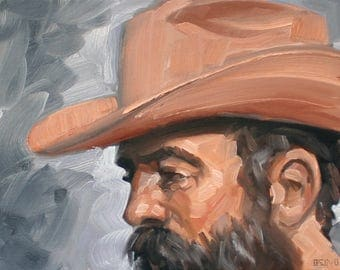 Infamous Gaucho, oil on canvas panel, 11x14 inches by Kenney Mencher