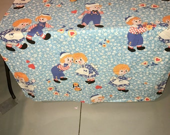 1970's Bobs Merril Raggedy Ann and Andy curtain panel