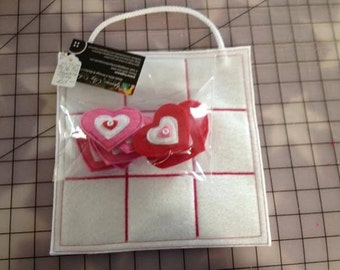 Valentine Tic-Tac-Toe Traveling Game Tote