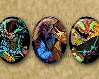 30x40 mm Digital Printable Ovals SEGUY BUTTERFLIES collage for Cameos Pendants Magnets Bezel Cabs...Papillons Butterflies Art Deco