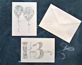 Happy Birthday Cards. Set of 8