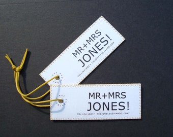 Unique European handmade design luggage tags - Unique personalized Wedding gift for the couple - Custom Mr & Mrs luggage tags.