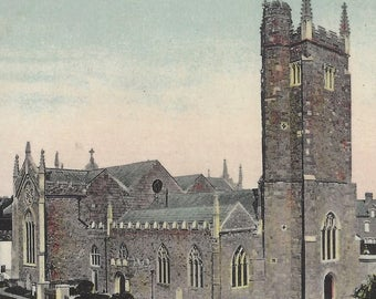 St. Thomas' Church EXETER ENGLAND Vintage Unused Postcard Coat of Arms Cathedral City in Devon British Collectible Post Card Milton Postcard