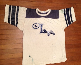 Vintage LOYOLA COLLEGE Football JERSEY L Artex