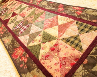 Quilted Spring Rustic Farmhouse Table Runner
