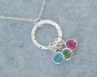 Birthstone Necklace - Grandma Necklace - Birthstone Charm Necklace - Birthstone Jewelry - Personalized Jewelry