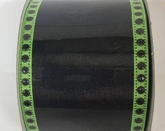 20% OFF 2.5 Inch Black Lime Halloween Ribbon TR6240-09, Deco Mesh Supplies