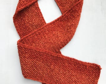 HERITAGE: Hand Knit One Oversized Wool Blend Scarf