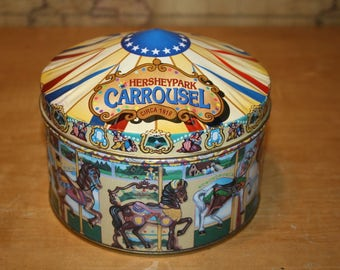 1996 Hearshey's Milk Chocolate Carrousel Tin - item #2426