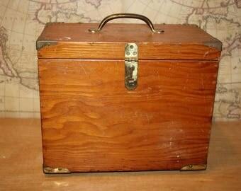 Wooden Storage Box - item #2485