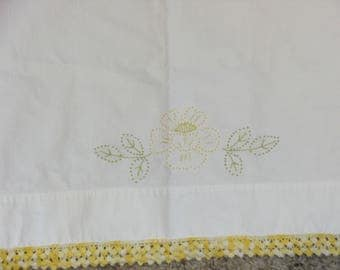 Vintage Hand Stitched Pillowcase