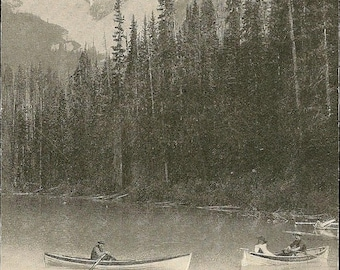 Mount Burgess Emerald Lake Near Field British Columbia on the Canadian Pacific Railway Line Unused Antique Postcard – Canadian Landscape