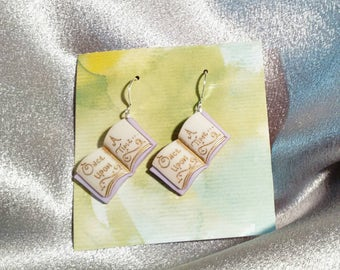 Once upon a time fairy tale earrings for fantasy earrings mythical creatures Brockus Creations