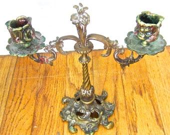 Stunning Ornate Vintage Brass Candelabra - Candle Holder