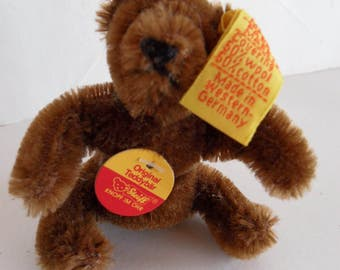 Steiff bear Teddy bear miniature mohair  brown all Ids Germany 2020