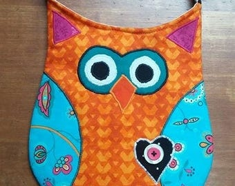 Funky Owl Purse, Hipster, Scrappy - As Shown or Design your own