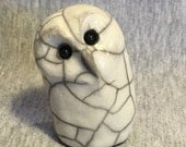 Smiles Unlimited Owl ceramic raku sculpture