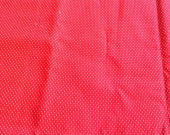 Red with White Microdot Quilting Cotton 1 Yard X0829