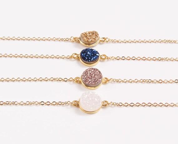 Druzy Gold Bracelet