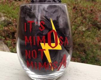 It's MimOsa Stemless Wine Glass, Cute Wine Glasses, Wine Glasses, Funny Wine Glasses, Gifts for her, Witty Wine Glass