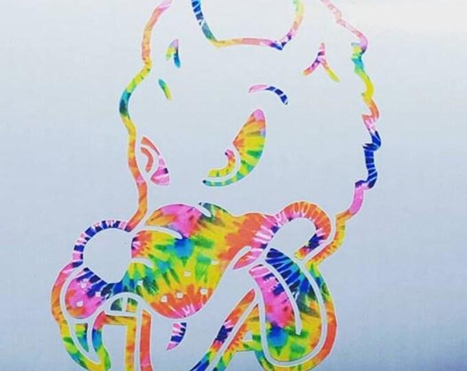 Grateful Dead Dire Wolf Don't Murder Me Tie Dyed Vinyl Sticker Graphic Decal Jam Band Sticker