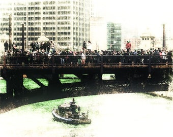 St Patrick's Day on the Chicago River
