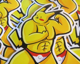 Buff Pikachu Sticker