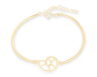 Nautilus Shell Bracelet - Gold - Charm Bracelet - Coastal Jewelry - Beach Jewelry - Summer Jewelry - Ocean Jewelry - Beach Bracelet