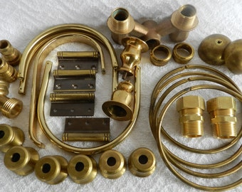 Solid Brass-Found Objects-Robot Parts-Steampunk-Lamp Parts