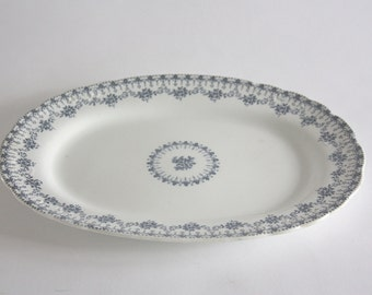 Vintage Ceramic Oval Platter, Serving Tray, Touraine by Mercer China